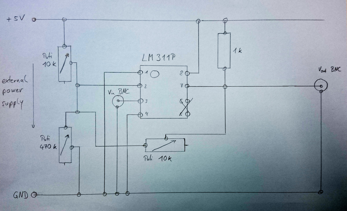 LM311P circuit - connections, wiring and diagram - EmbDev.net