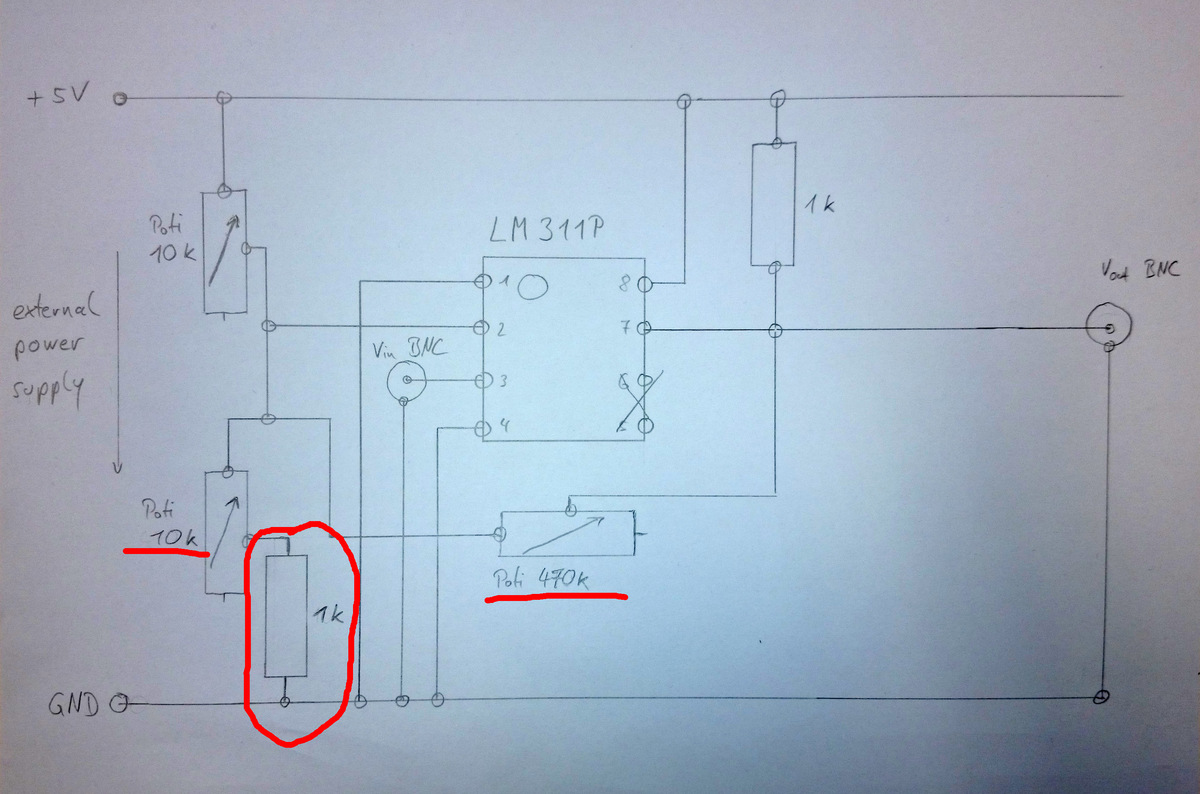 Lm311p Circuit - Connections  Wiring And Diagram