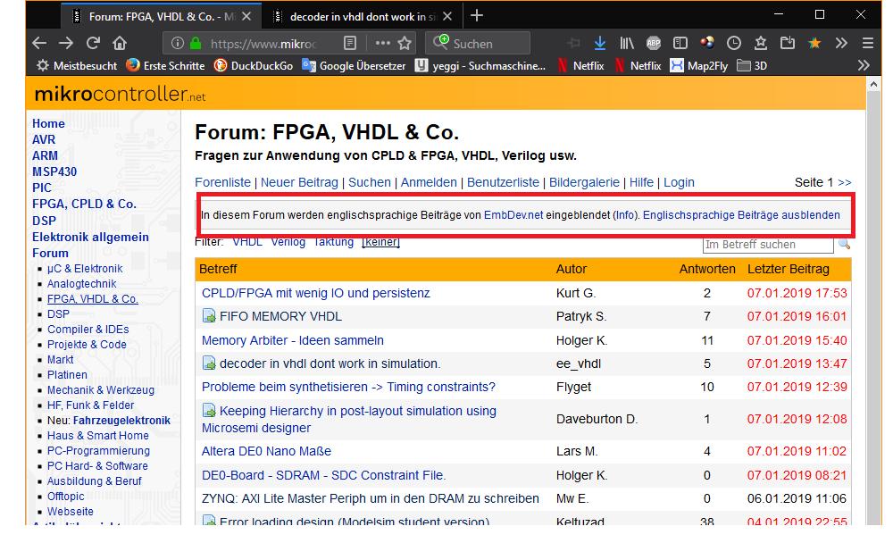 FIFO MEMORY VHDL - EmbDev net